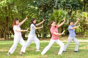 image of people doing tai chi.