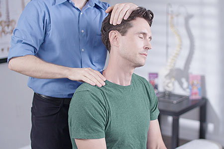 Chiropractic treatment for whiplash.