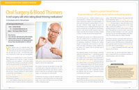 Oral Surgery and Blood Thinners - Dear Doctor Magazine