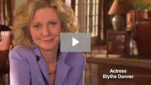 Blythe Danner Oral Cancer Video.