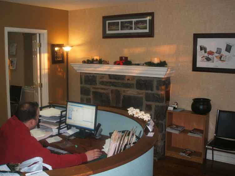 Front desk reception area - North Wales PA Chiropractic