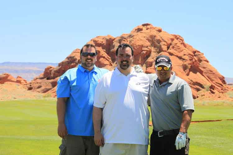 Dr. Conrad and his friends golfing - Lansdale Chiropractor, North Wales, PA Chiropractor