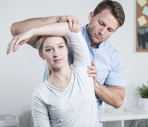 Chiropractor providing an adjustment in Brooklyn