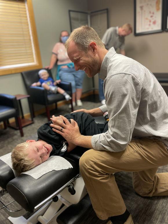 Dustin adjusting kids