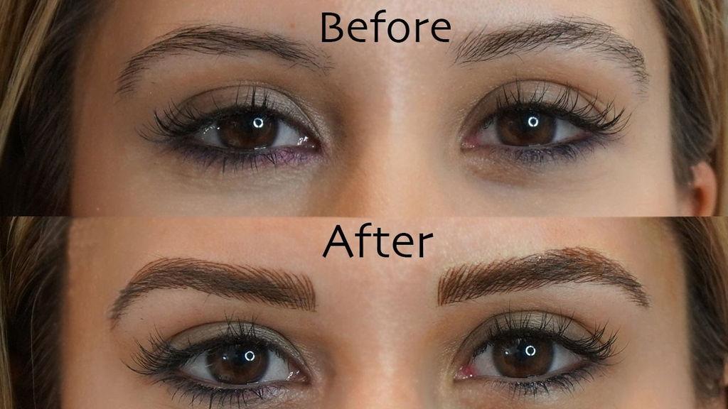 Microblading Semi Permanent Eyebrows makeup