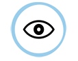 Round eye logo
