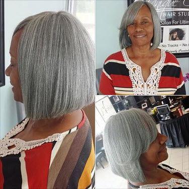 series elderly african amercian woman