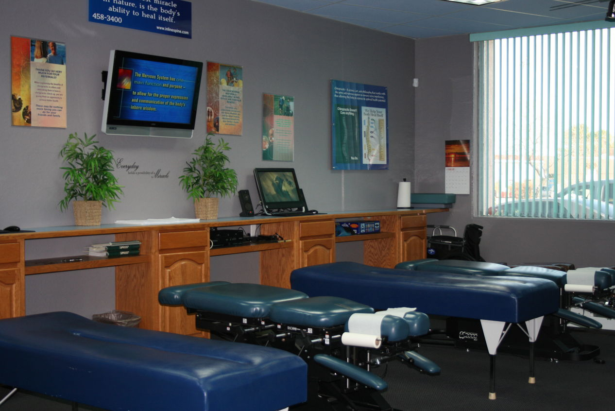 Our Big Chiropractic Adjusting Room