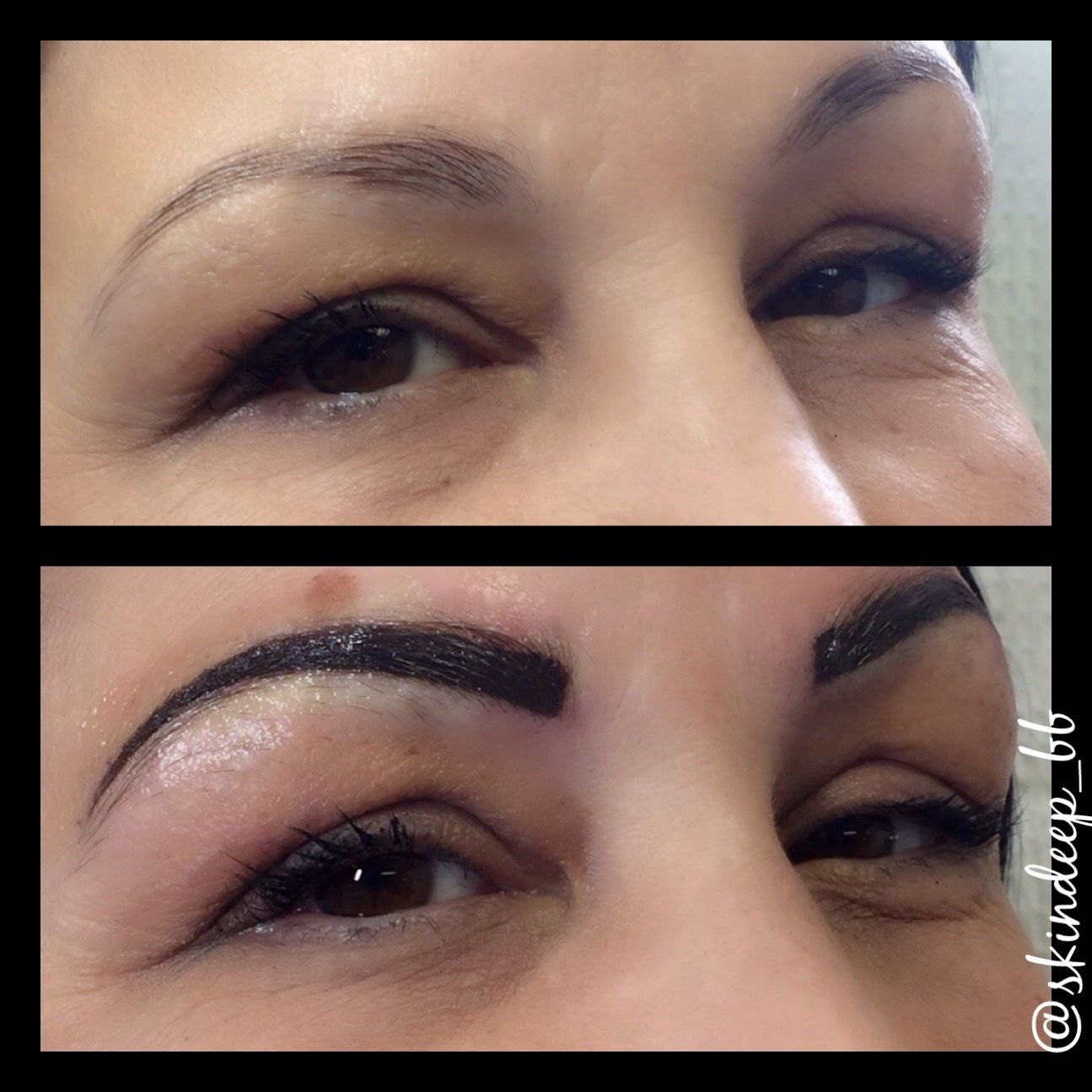 Powderfill brows