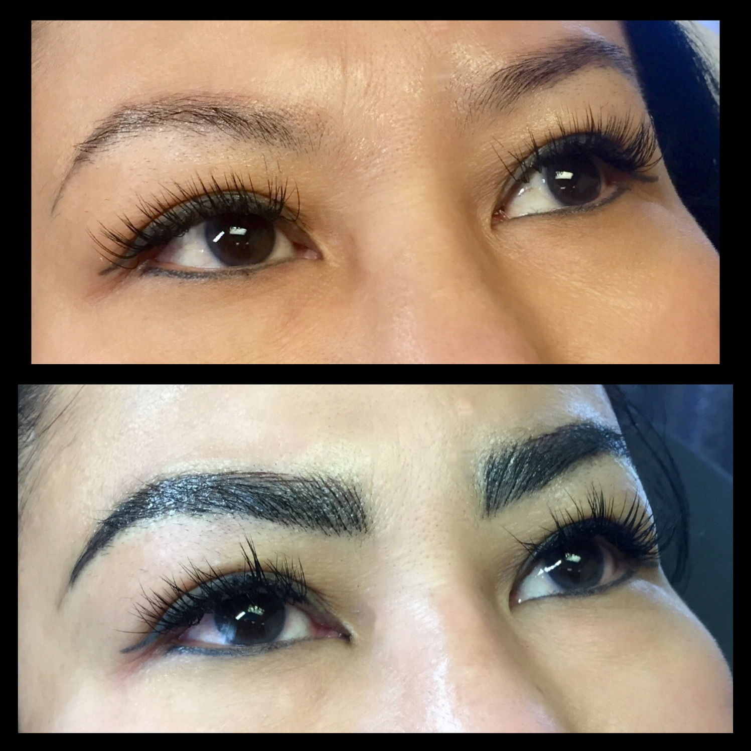 Coverup work done w/ Microblading