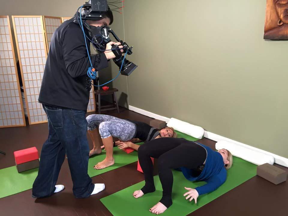 filming yoga videos