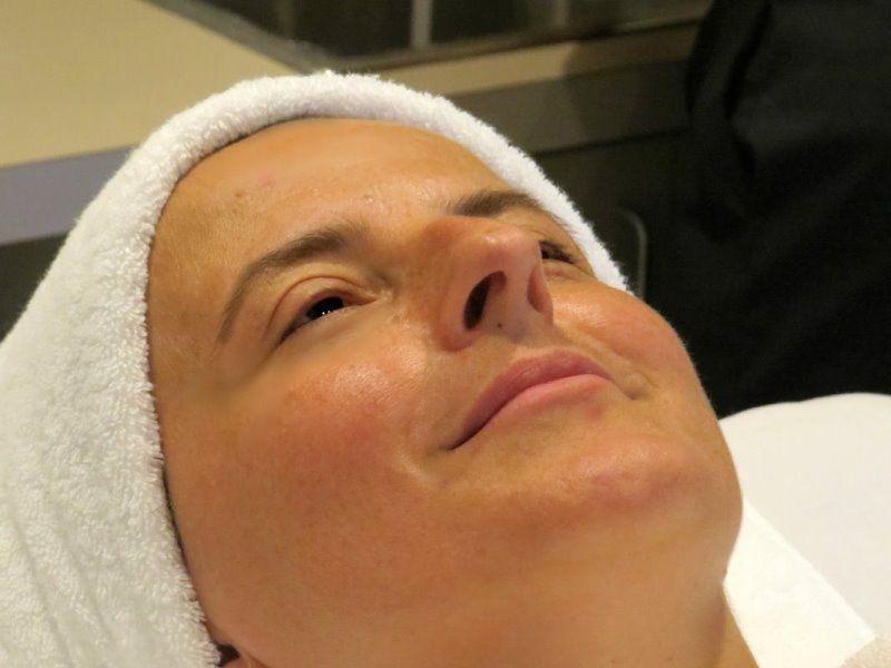 after receiving Ultrasonic facial