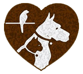 Heart dog and cat logo