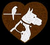 Heart dog and cat logo