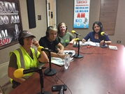 Dr Roman on radio giving orientation on leptospirosis outbreak after hurricane Maria