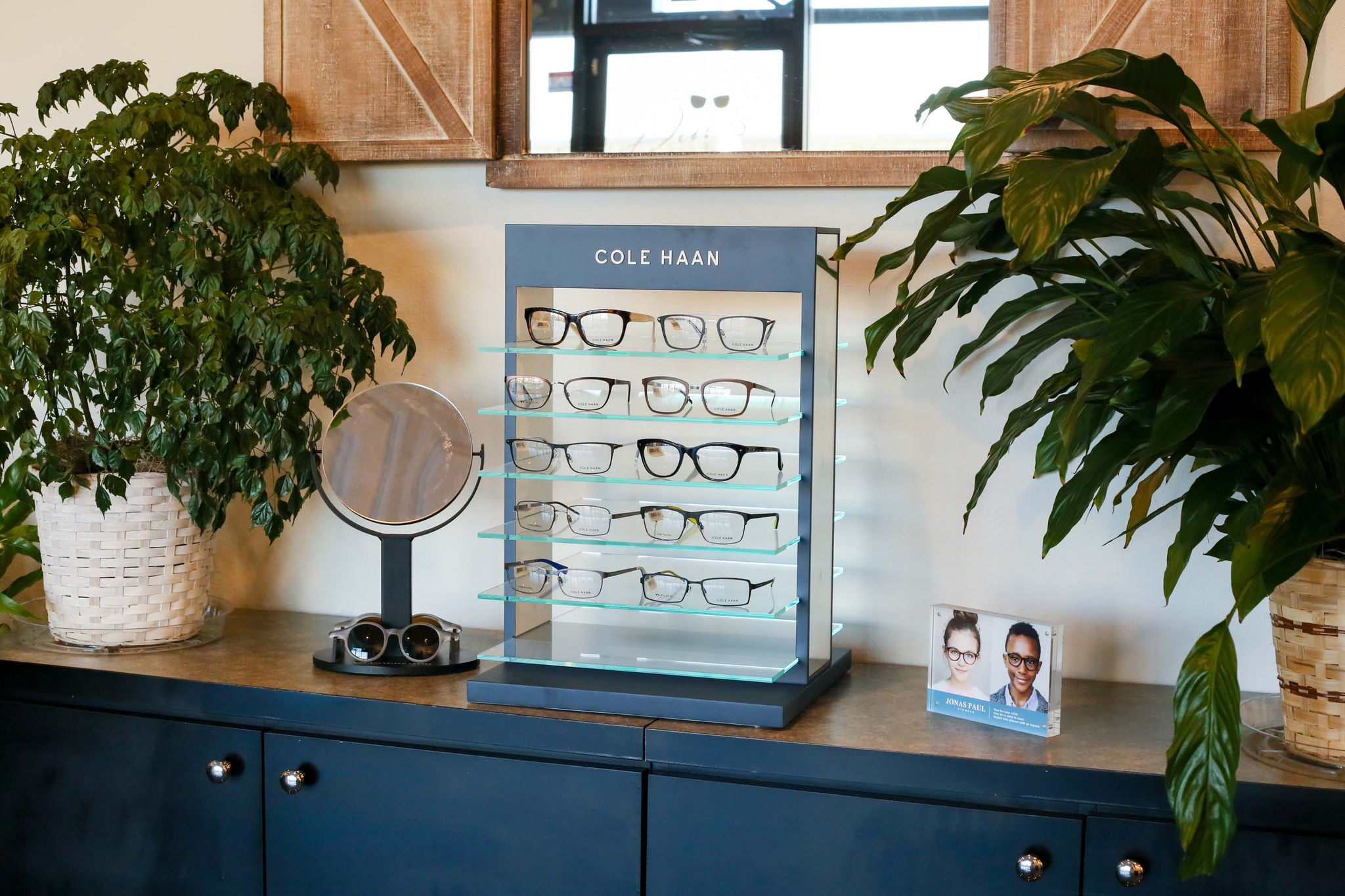 display case for cole haan