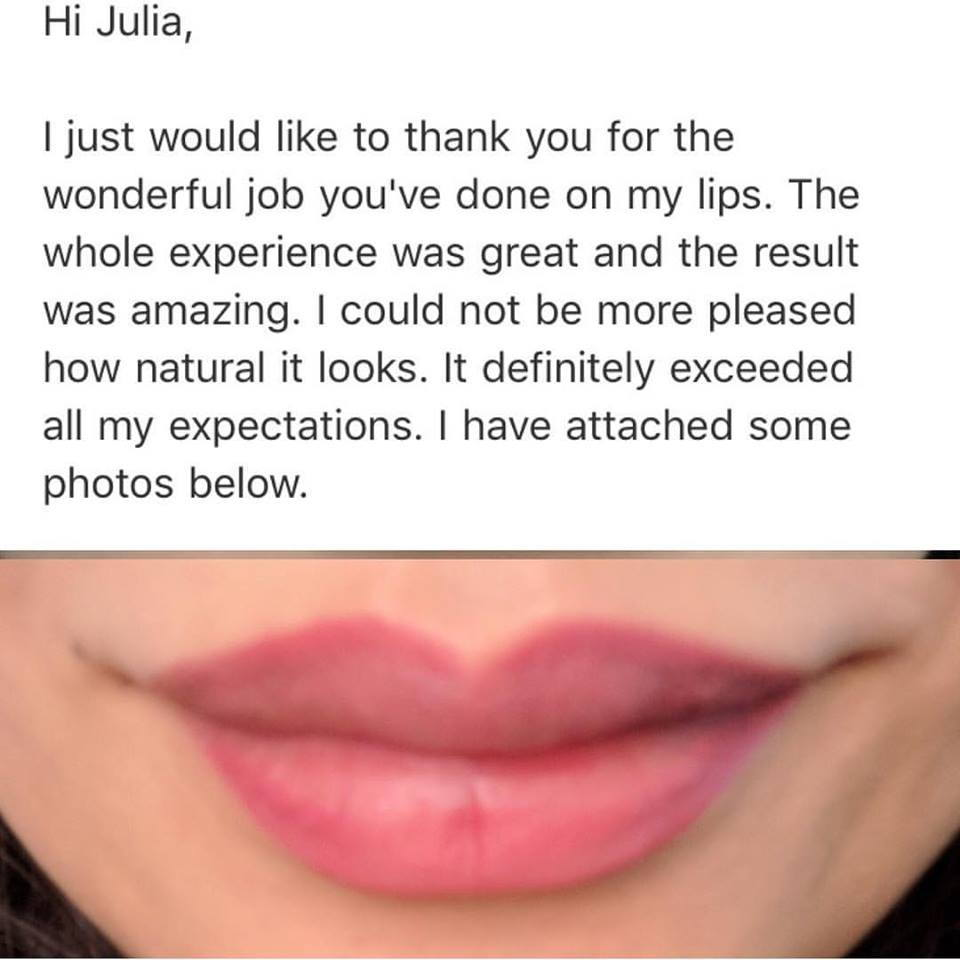 Semipermanent Lips Testimonial