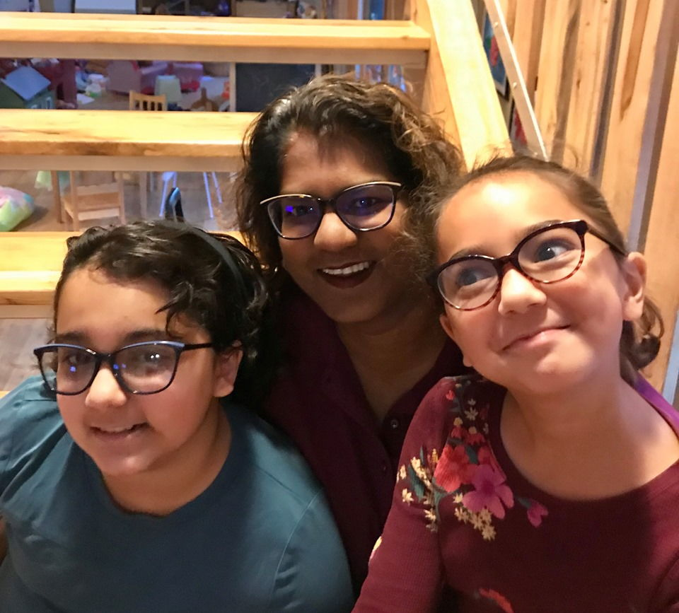 Dr. Elahi-Neal and 2 daughters in Draper James Mommy and Me collection