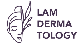 Lam Dermatology Logo in Purple