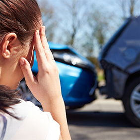 Woman involved in car accident