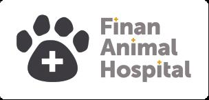 Round dog and cat logo