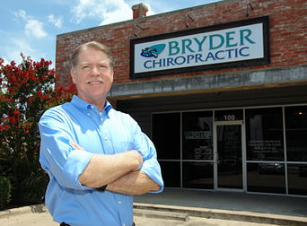 Dr. Bryder outside clinic