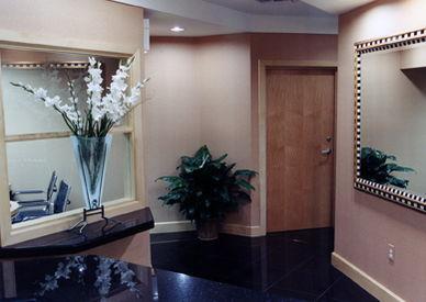 Door leading into the practice