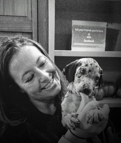 Samantha and puppy