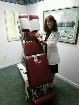 Dr. Adams In Adjusting Room