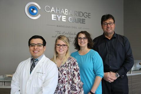 image of eye glasses on an eye chart.