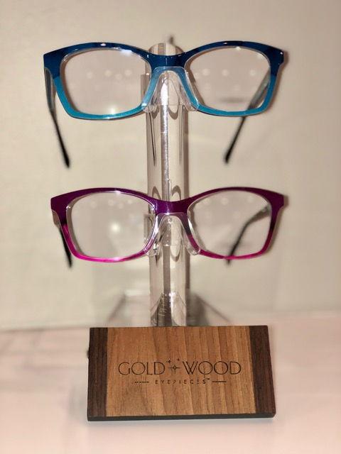 Gold Wood Glasses