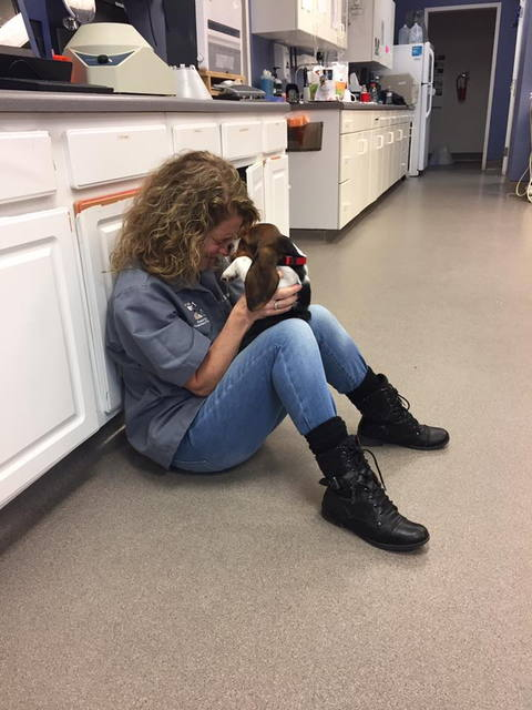 Sharon and Puppy