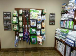 We have leashes, collars & dental treats