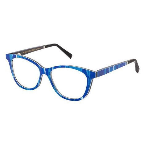 blue frame glasses