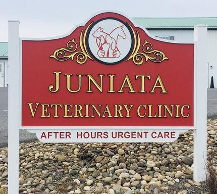 Juniata Veterinary Clinic Sign