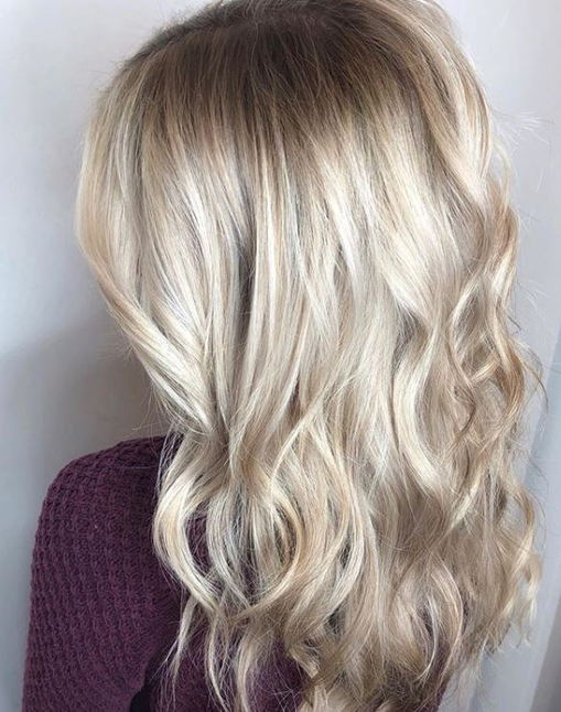 rooted blonde