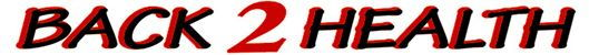 Back 2 Health Logo