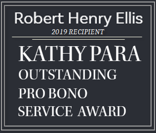 Kathy Para Pro Bono Award Presented to Robert Ellis