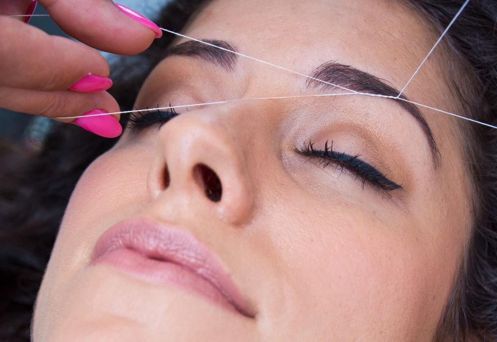 eyebrows threading / full face threading